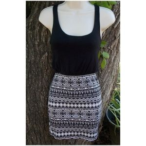Black Tank Style Top w/ Attached Skirt - Sz. 4